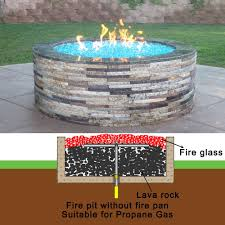 glass for fire pit amazon com stanbroil lp propane gas fire pit stainless steel