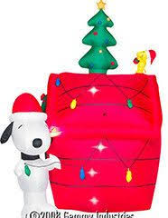 brown christmas snoopy dog house gemmy christmas airblown peanuts snoopy in airplane