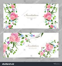 Design Invitation Cards Invitation Cards Beautiful Flowers Your Design Stock Vector