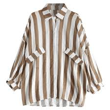 blouse button oversized button up striped blouse 425 uyu liked on polyvore