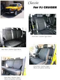 toyota fj cruiser clazzio leather seat covers autoeq ca