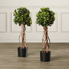 darby home co artificial topiary tree in pot reviews