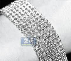 bracelet mesh images Mens diamond mesh flexible bracelet 14k white gold 9 56 ct 9 quot jpg