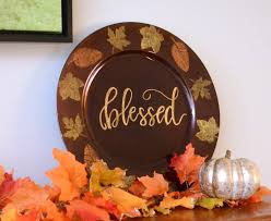 when does thanksgiving fall on stenciled fall chargers one artsy mama