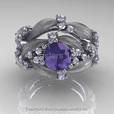 leaf and vine engagement ring nature classic 14k white gold 1 0 ct alexandrite leaf and