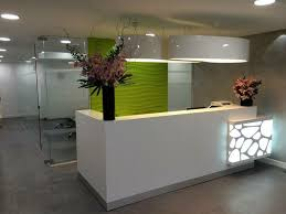 Hairdressing Reception Desk Small Salon Reception Desk With Recessed Lighting Nytexas