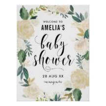 baby shower poster baby shower posters zazzle