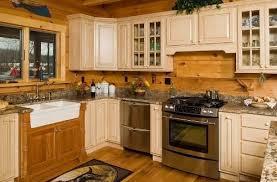 Cabin Kitchen Ideas Sophisticated Log Cabin Kitchen Cabinets Kitchen The Gather