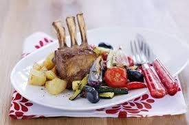 roasted lamb rack u0026 spring vegetables