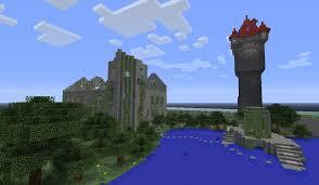 the castle of cagliostro cagliostro clock tower and castle ruins minecraft project
