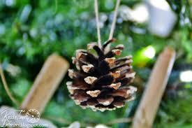christmas tree with pine cones christmas lights decoration