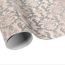 damask wrapping paper black grey silver white pink metallic damask wrapping paper
