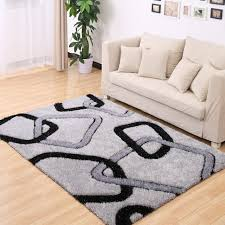 Modern Bedroom Rugs Brief Plaid Stretch Yarn Rugs And Carpets For Home Living Room