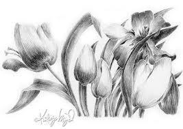 tulips art colored glasses