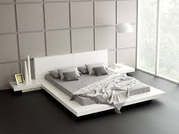 Exotic Bed Frames by White Platform Bed Design White Brown Cotton Pillows Beige Oak