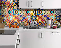 tile decals for kitchen backsplash talavera tile decals tile stickers talavera traditional