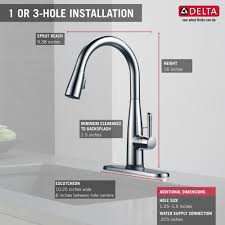 100 touch2o kitchen faucet delta pilar single handle bar