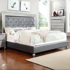 king fabric bed frame lifestyle glam king upholstered panel bed