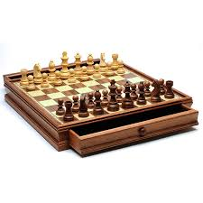 we games french staunton chess u0026 checkers set weighted pieces