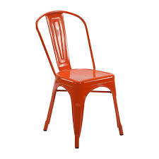 Tolix Bistro Chair Tolix Chair Orange For Hire From Well Dressed Tables