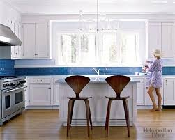 blue and white kitchen ideas blue and white kitchen trendy galley kitchen photo in with flat
