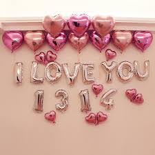 valentines day baloons 16 letter i you 1314 foil balloons 20pcs heart balloon wedding