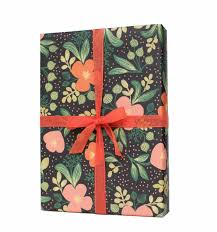 floral wrapping paper midnight floral wrapping sheets by rifle paper co made in usa