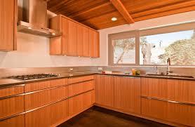 kitchen red oak wood dark roast glass panel door modern kitchen