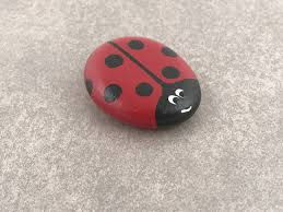 Rocking Bird Garden Ornament by Ladybug Painted Rocks Garden Decor Garden Ornament