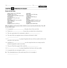 image gallery ecology worksheets