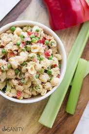 pasta salad with mayo easy shrimp pasta salad with shells and peas slim sanity