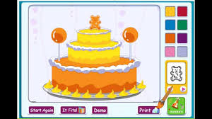 barney happy birthday birthday cake kid game