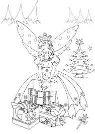 free printable kids colouring pages christmas fairy