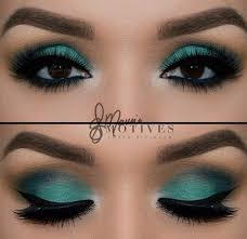turquoise blue eye look definitely not an everyday kind of look