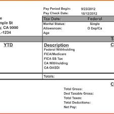 check stub template u2013 free 255 printable design for fake pay stub