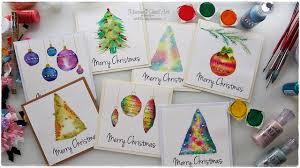 christmas cards in watercolor 7 watercolor christmas card ideas for beginners maremi s small