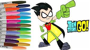 teen titans robin coloring book ttg color