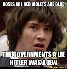 Roses Are Red Violets Are Blue Meme - roses are red violets are blue the governments a lie hitler was a
