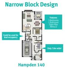 Narrow Block Floor Plans If You Have A Wide Or Acreage Block Of Land The Stockton 322 Is