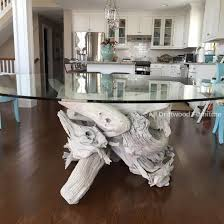 all glass dining table beautiful driftwood dining table hand crafted from gulf island