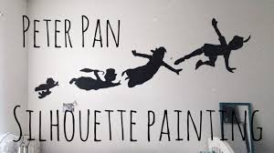 articles with peter pan shadow vinyl wall art tag peter pan wall enchanting peter pan bedroom wall stickers peter pan silhouette painting design ideas full size