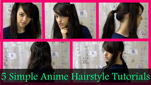 5 simple anime hairstyle tutorials hopeletta youtube