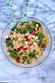 pasta salda fresh spinach tomato and mozzarella pasta salad citrus u0026 delicious