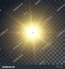 and glow vector yellow sun rays glow on stock vector 437252794