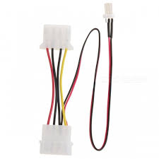 cpu fan 4 pin to 3 pin universal large 4 pin to 3 pin power supply adapter cable for