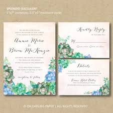 3 Perfect Ideas To Create Succulent Wedding Invitations Marialonghi Com