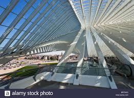 Futuristic Design by Liège Guillemins Train Station Platform Modern Futuristic Design