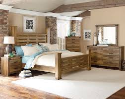 Pine Bed Set Casual Rugged Brown Pine Wood Bedroom Furniture Montana Bedroom