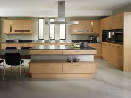 cool brown color concrete kitchen floor with rectangle shape brown
