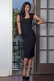 stop staring 50s uma dress in black
